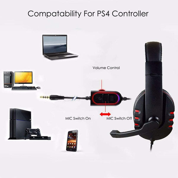 2020 NUEVO GAMING HEADSET PARA PlayStation 4 PS4 PC Xbox One CD players