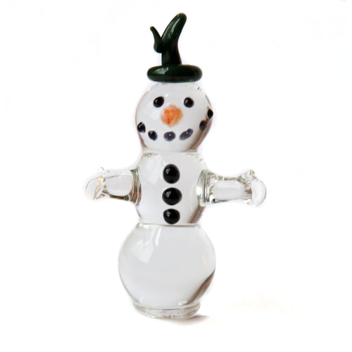 Snowman Glass Ornament