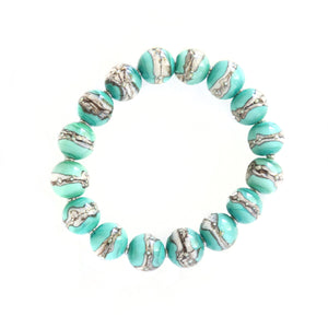 """Georgian Bay Whitecaps"" glass bead bracelet"