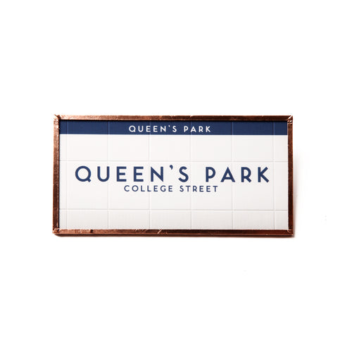 Vintage Queen's Park subway magnet