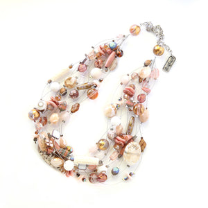 10-strand necklace - Rock Star Neutral