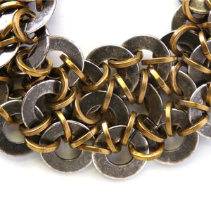 """Nami"" antique brass bracelet"