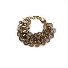 "Load image into Gallery viewer, ""Nami"" antique brass bracelet"