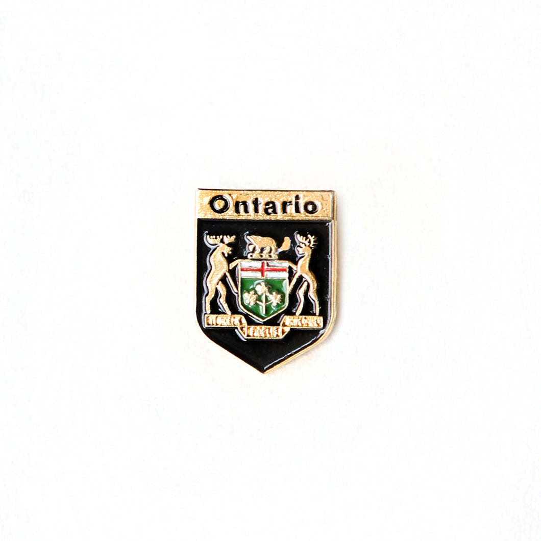 Ontario coat of arms lapel pin