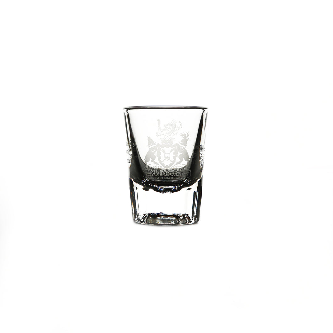 Coat of arms shot glass