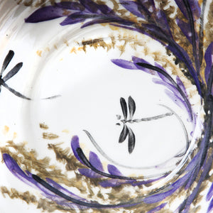 "Hand-painted bowl ""Lavender Collection"""