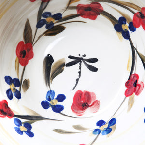 "Hand-painted bowl ""Poppy Collection"""