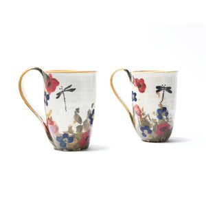 "Hand-painted mug ""Poppy Collection"""