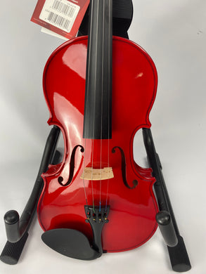 Stagg Violin w/ Case and Bow (Red)