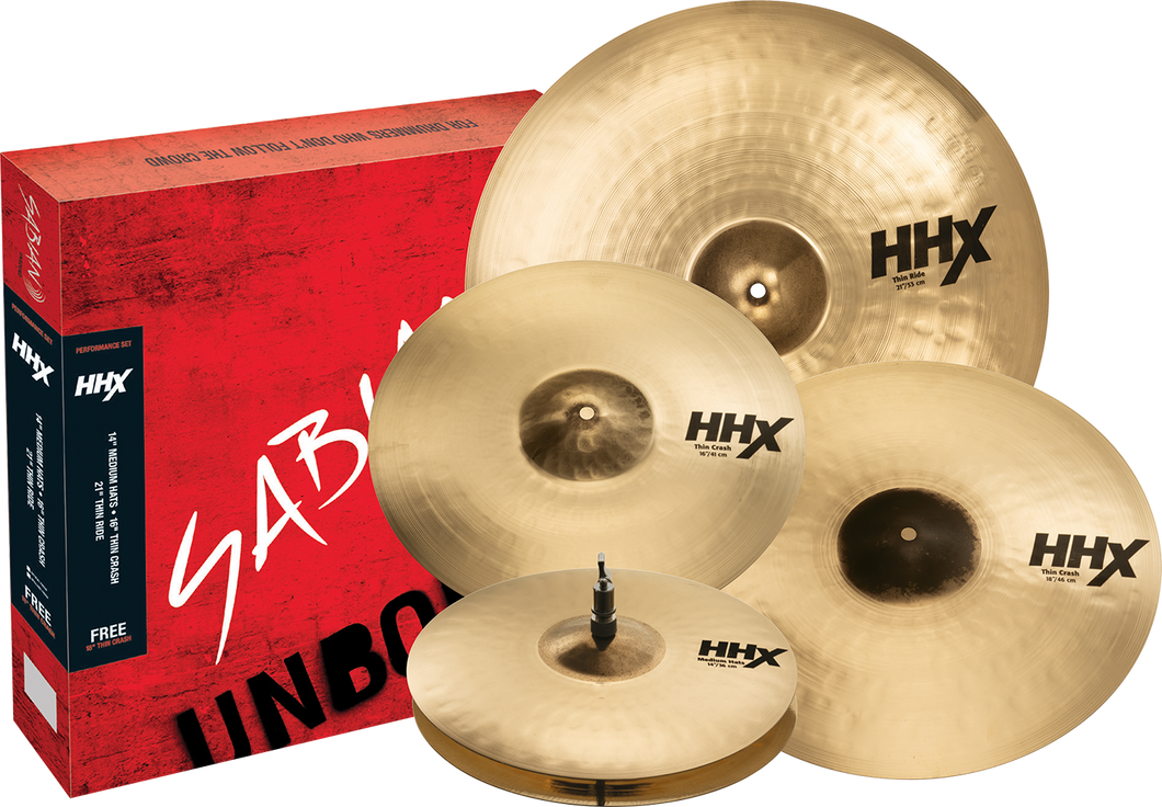 SABIAN HHX Performance Set Brilliant Finish Cymbal 15005XTMB