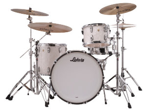 "Ludwig 24"" Classic Maple PRO BEAT White Marine Drum Shell Pack L84433AX0PWC"