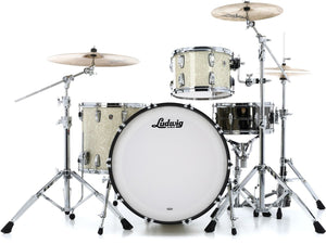 "Ludwig 24"" Classic Oak PRO BEAT Vintage White Marine Drum Shell Pack L7344AXNMWC"