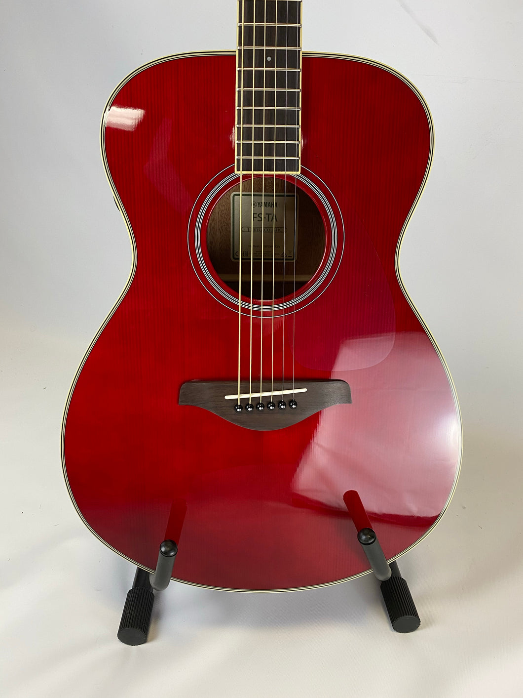 Yamaha FS-TA TransAcoustic Concert Acoustic-Electric Guitar Ruby Red