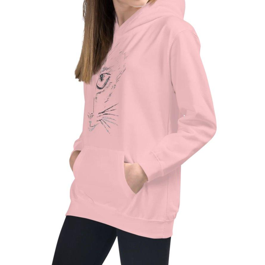 Annie Puaso Fierce Cat Hoodie - Kids -Pink on The Good Shop Online Store