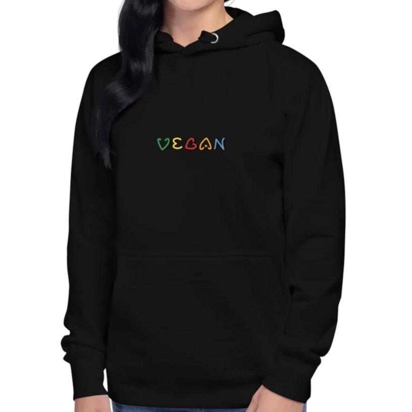 Black Vegan Hoodie by Worldimproving Womens XL on The Good Shop Online Store
