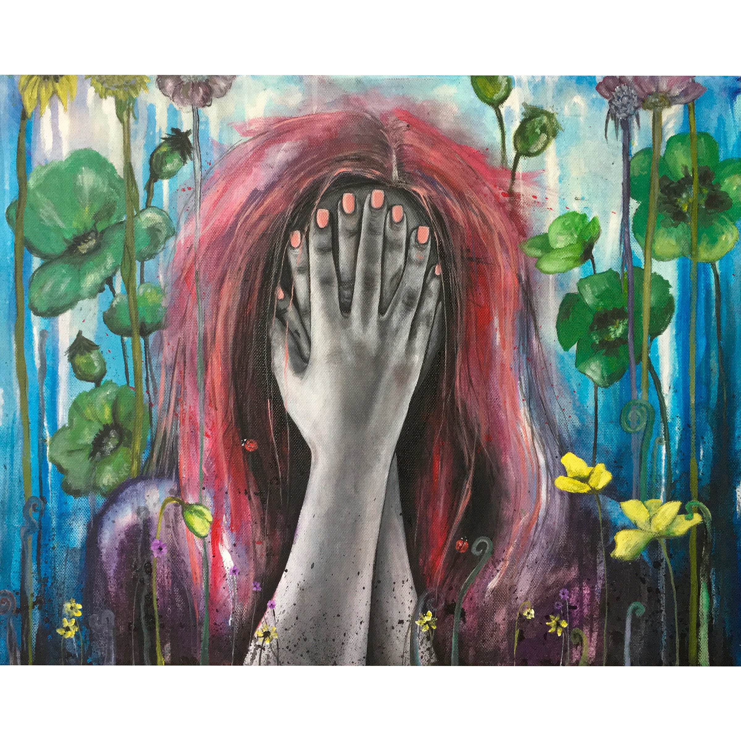 Blind Bloomer - Denize Artuñedo Engblom - Original Painting on The Good Shop Online Store
