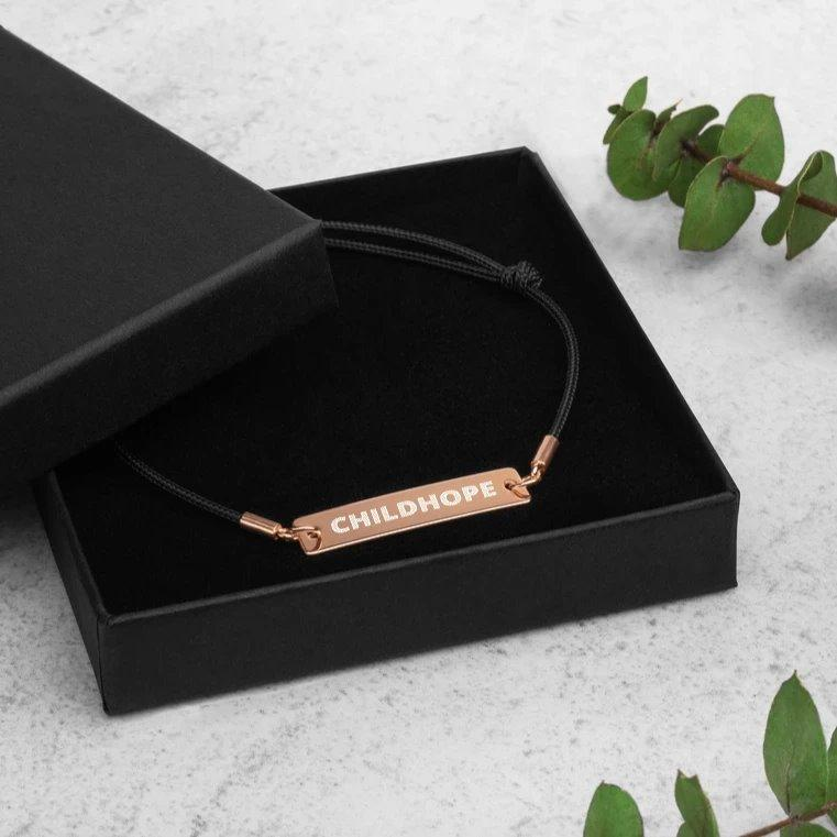 Childhope 18K Rose Gold Coated Silver Bar Bracelet on The Good Shop Online Store