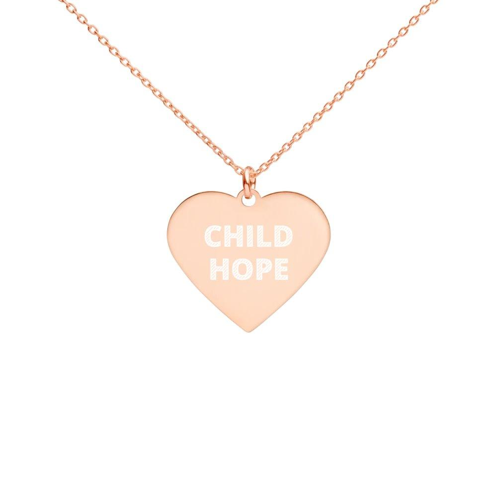 Childhope 18K Rose Gold Coated Silver Heart Necklace on The Good Shop Online Store