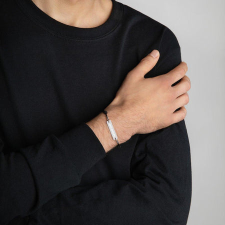 Childhope Silver Bar Bracelet with White Rhodium Coating on The Good Shop Online Store