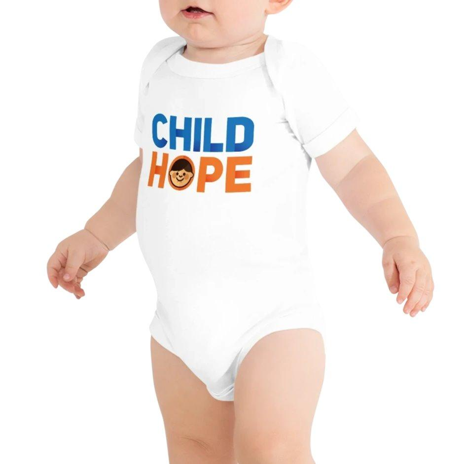 Childhope x Worldimproving Baby Onesie T-Shirt on The Good Shop Online Store