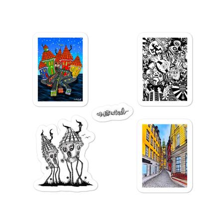 Collector Sticker Set Stockholm 1 - Art By Wentzel on The Good Shop Online Store