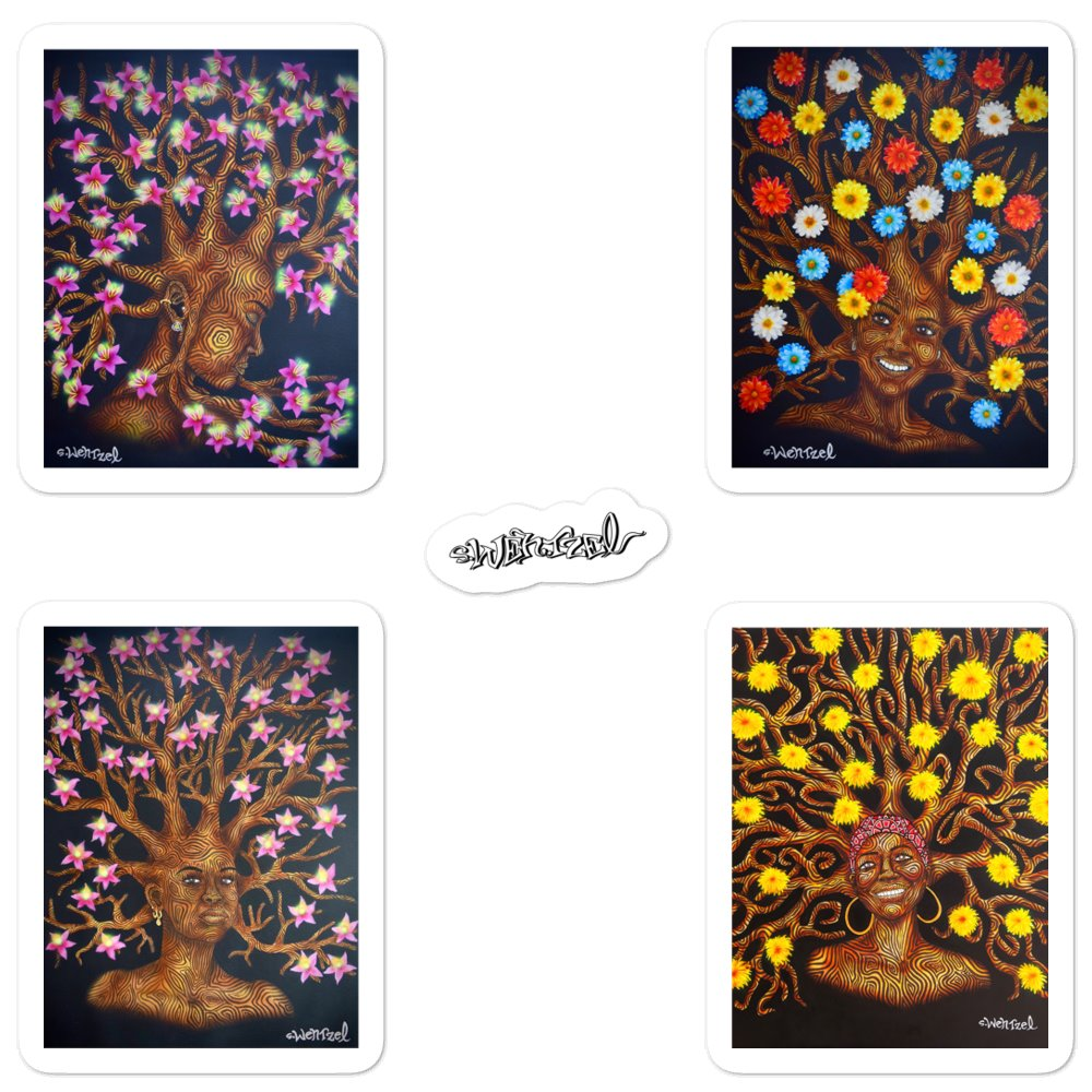 Collector Sticker Set Tree Ladies 1 - Art By Wentzel on The Good Shop Online Store