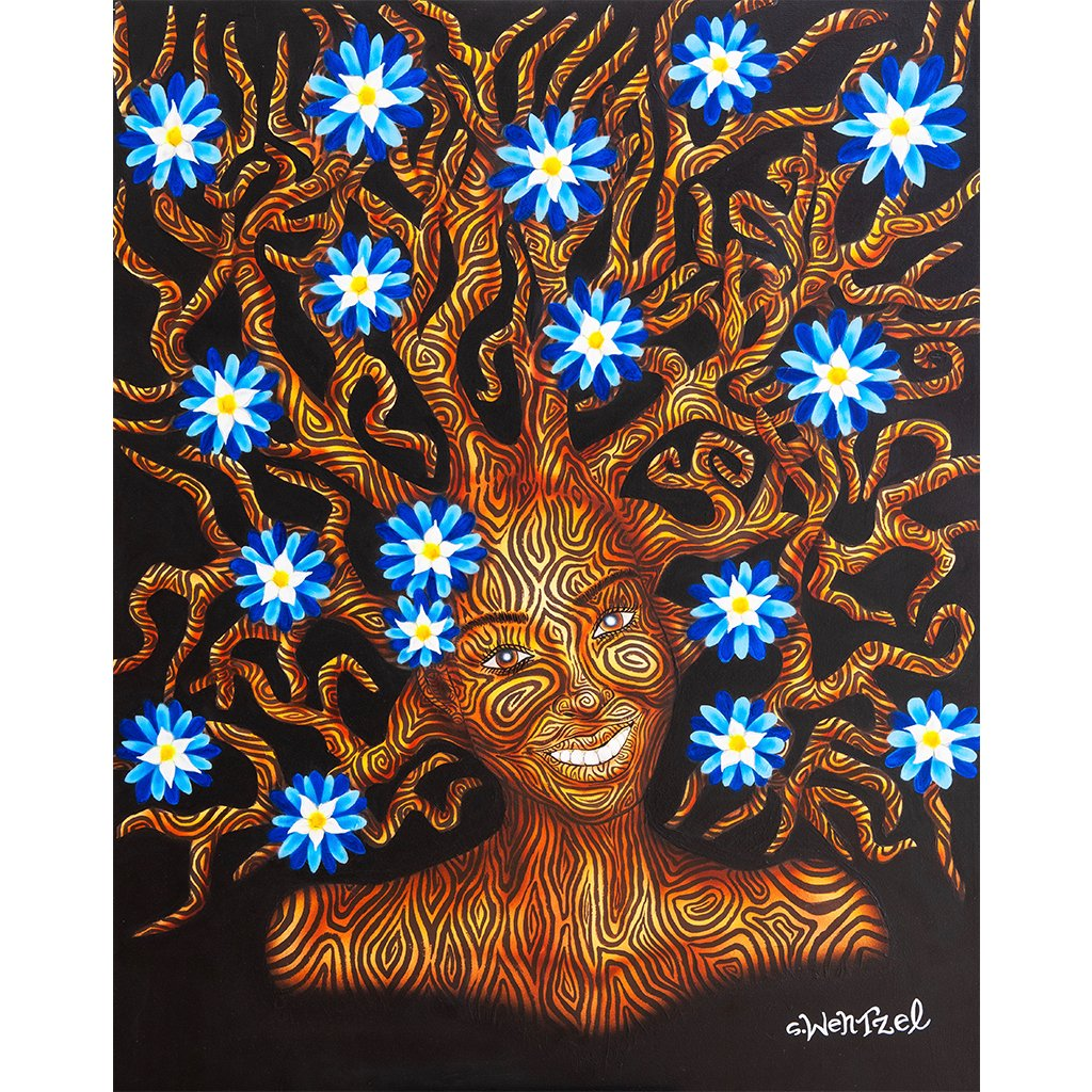 Cornflower - Original Painting by Stefan Wentzel on The Good Shop Online Store