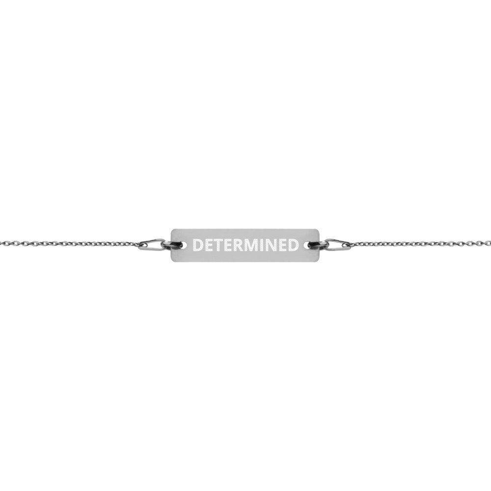 Determined Bracelet in Silver with Black Rhodium Coating on The Good Shop Online Store