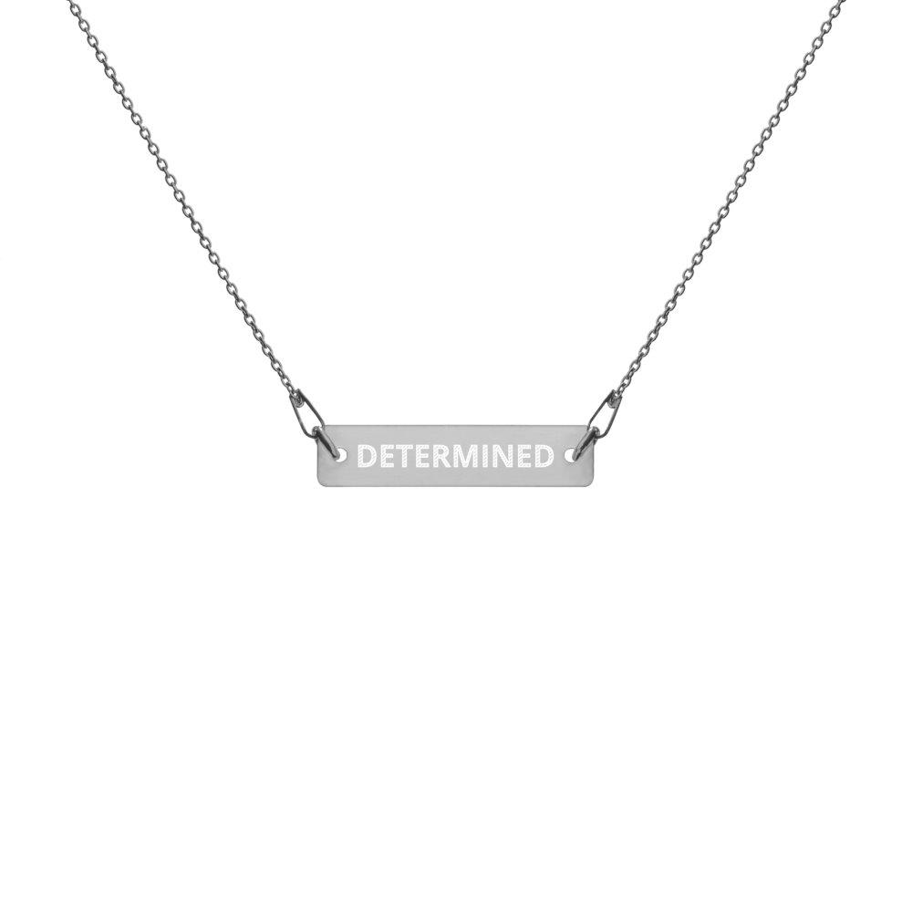 Determined Necklace in Silver with Black Rhodium Coating on The Good Shop Online Store