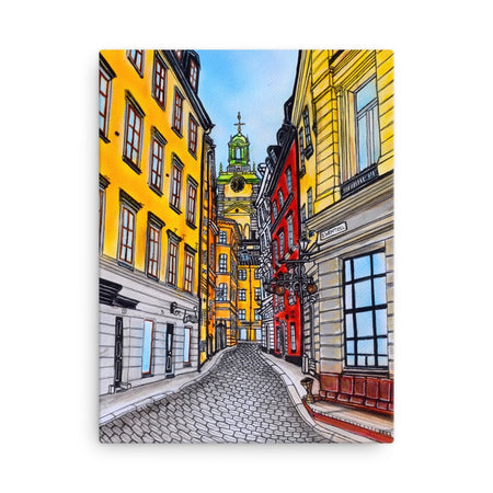 Gamla Stan Old Town Canvas Print - Stefan Wentzel - Art By Wentzel - Stockholm - on The Good Shop Online Store