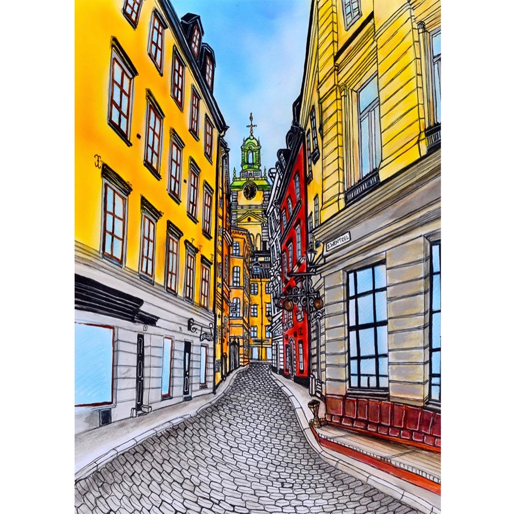 Gamla Stan - Stefan Wentzel - Fine Art Print on The Good Shop Online Store