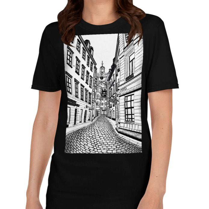Gamla Stan T-Shirt - Old Town of Stockholm - Stefan Wentzel on The Good Shop Online Store