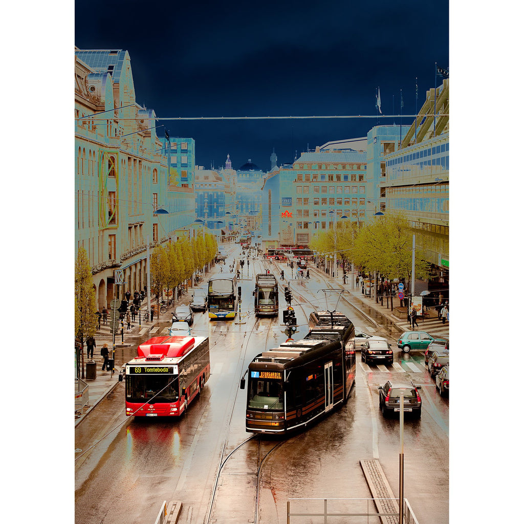 Hamngatan Stockholm - Per Mikaelsson - Photo Print on Aluminum on The Good Shop Online Store