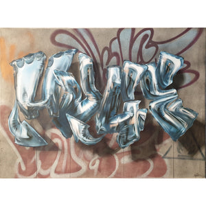 Huge Silver Foil Baloons - Original Painting by Huge on The Good Shop Online Store