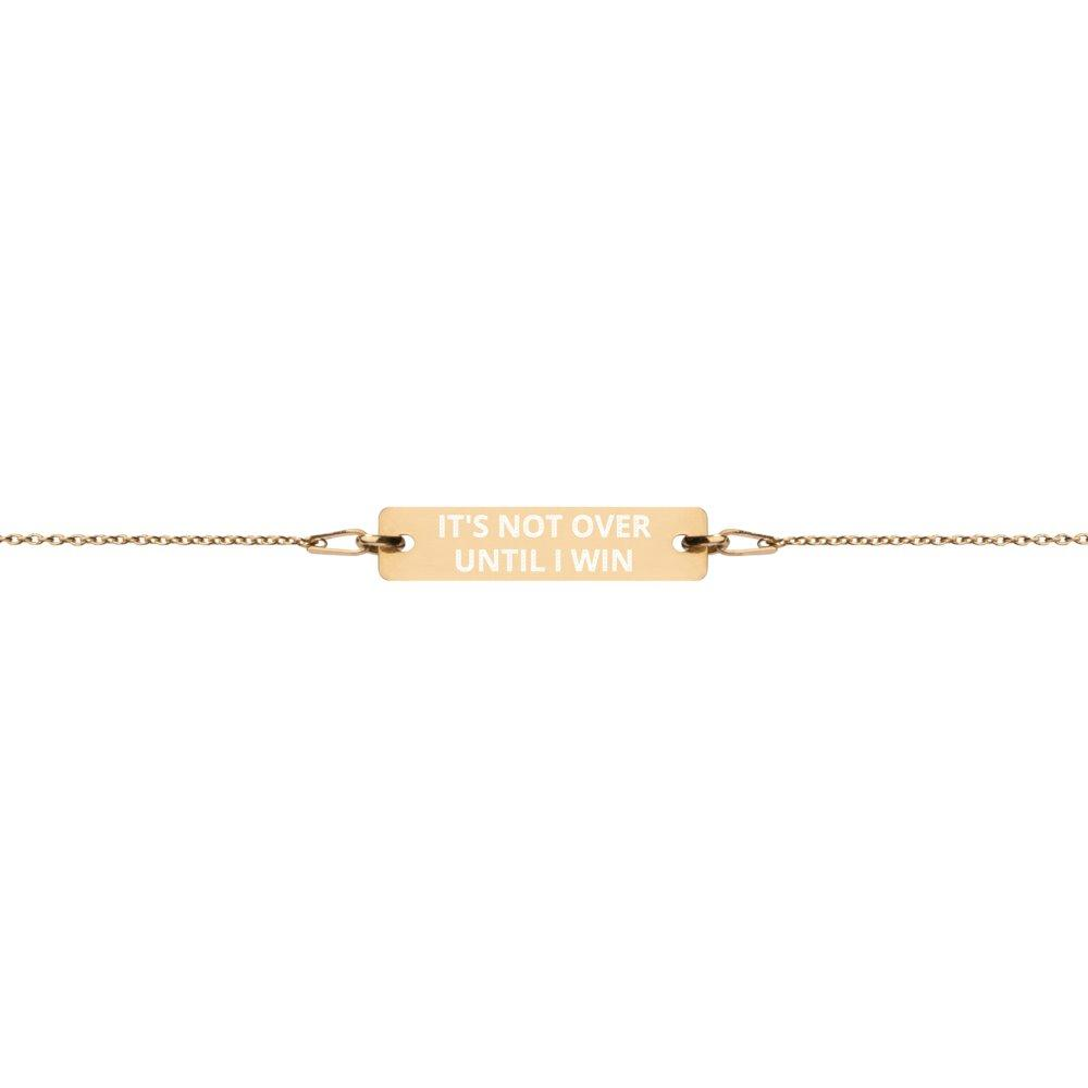 It's not over until I win Bracelet in 24K Gold Coated Silver on The Good Shop Online Store