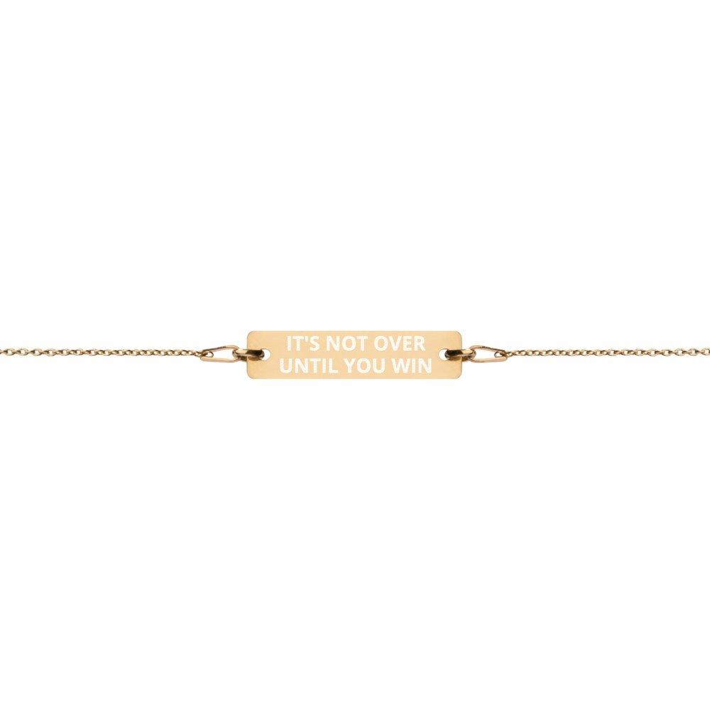 It's not over until you win Bracelet in 24K Gold Coated Silver on The Good Shop Online Store
