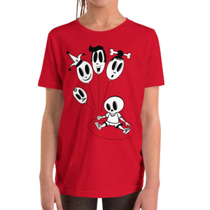 Kids T-shirt - Baloons - Skulls & Ghosts - Stefan Wentzel - Art By Wentzel on The Good Shop Online Store
