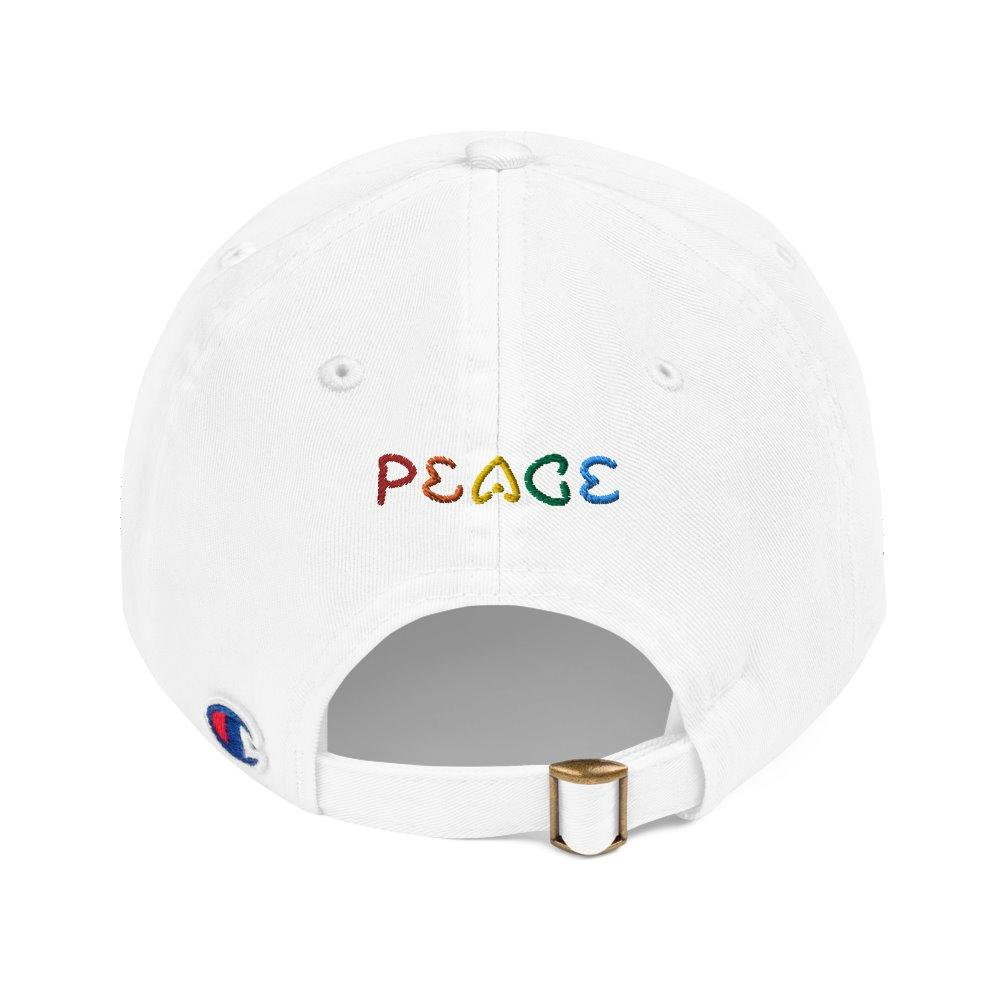 Love and Peace - Champion Worldimproving Dad Cap on The Good Shop Online Store