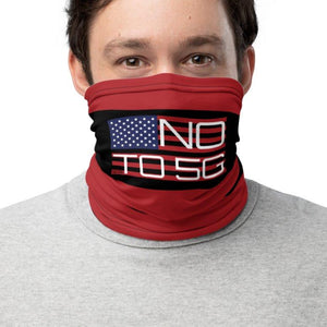No To 5G Stars and Stripes Neck Gaiter on The Good Shop Online Store