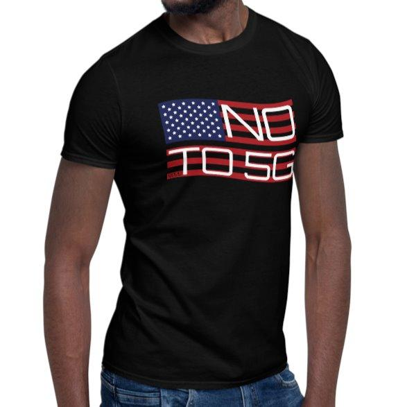 No To 5G T-Shirt T-Shirt Stars and Stripes on The Good Shop Online Store