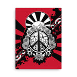 Peace Dove & Flowers Canvas Print - Red - Stefan Wentzel - Art By Wentzel on The Good Shop Online Store