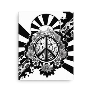 Peace Dove & Flowers Canvas Print - White - Stefan Wentzel - Art By Wentzel on The Good Shop Online Store