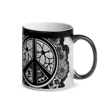 Peace Dove & Flowers Magic Mug - Stefan Wentzel - Art By Wentzel on The Good Shop Online Store