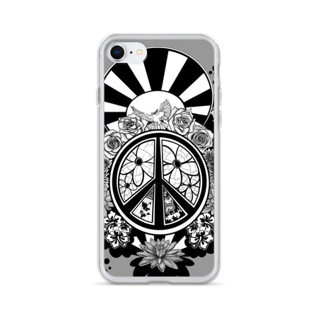 Peace & Flowers iPhone Case - Stefan Wentzel - Art By Wentzel on The Good Shop Online Store
