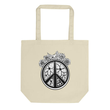 Peace Flowers Tote Bag - Organic - Stefan Wentzel - Art By Wentzel on The Good Shop Online Store