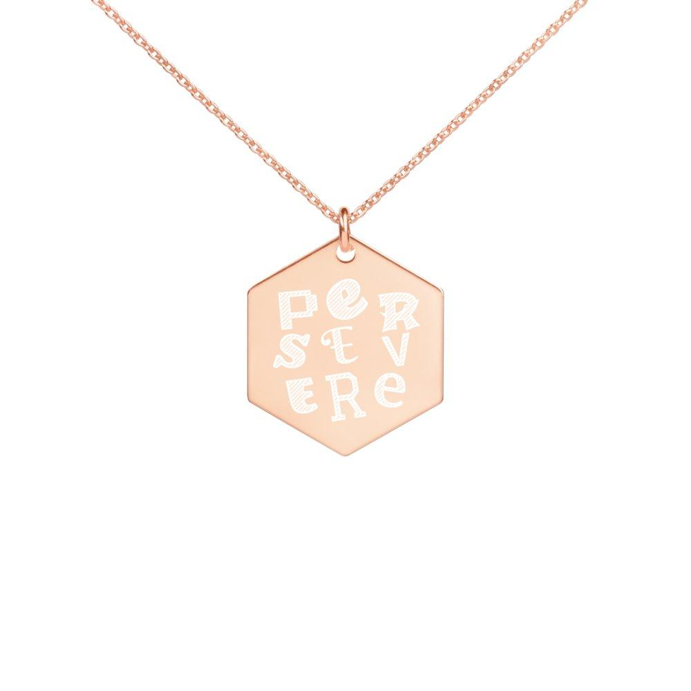 Persevere 18K Rose Gold Coated Heart Necklace on The Good Shop Online Store