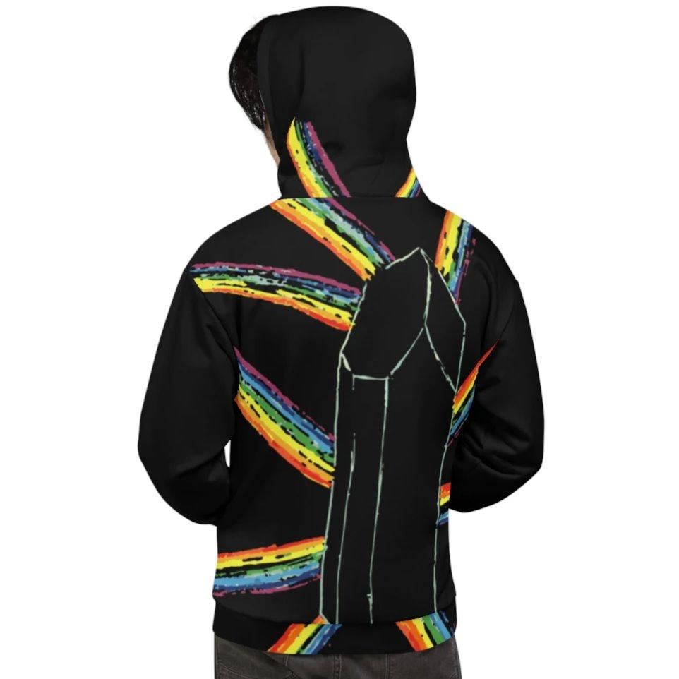 Poijo x Tjau Black Rainbow Quartz Black Hoodie on The Good Shop Online Store