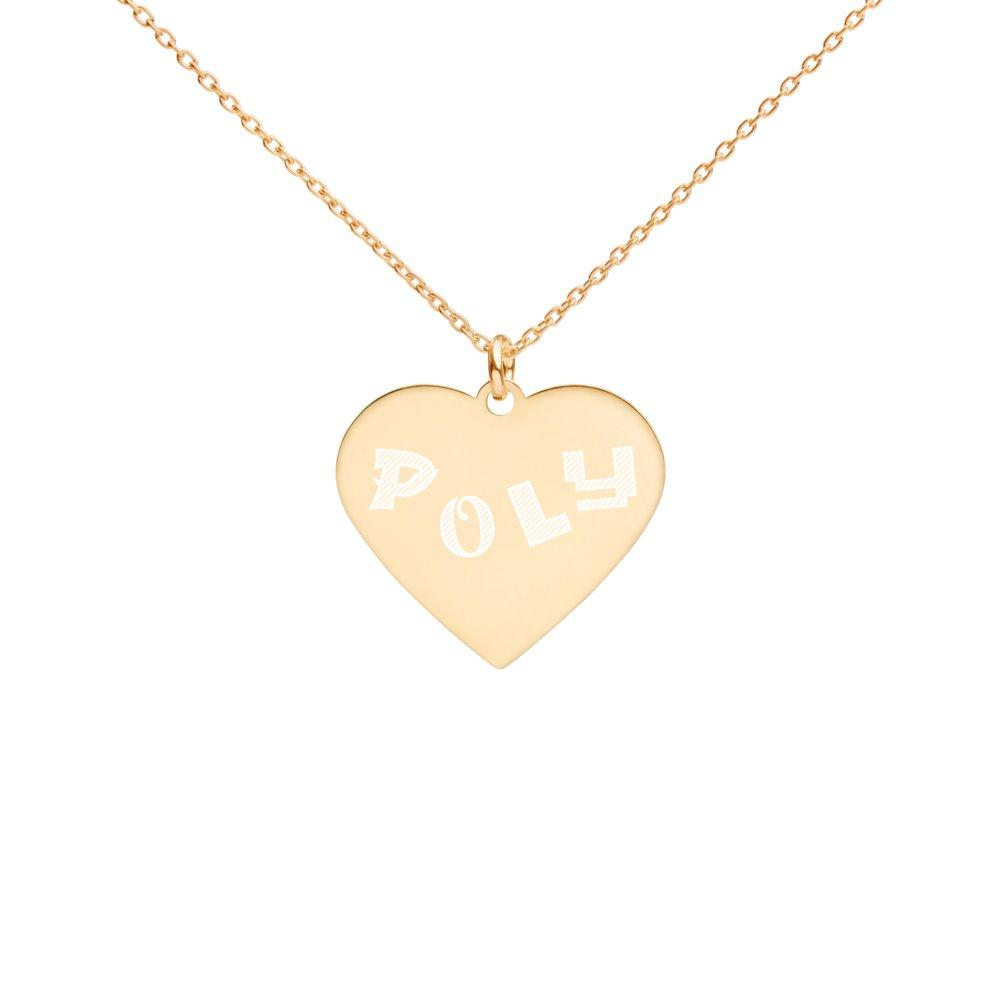 Poly Heart Necklace 24K Gold Coated Silver on The Good Shop Online Store
