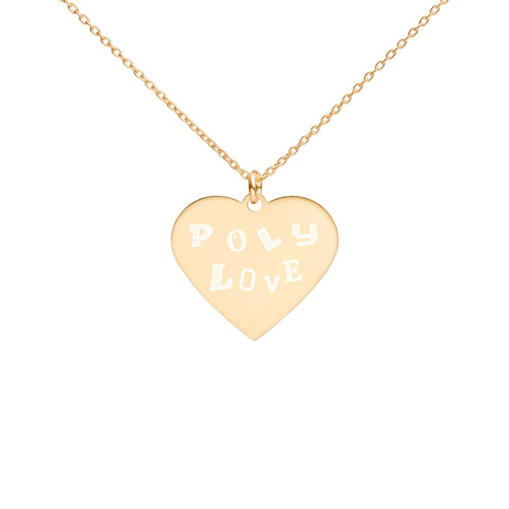 Poly Love Heart Necklace 24K Gold Coated Silver on The Good Shop Online Store