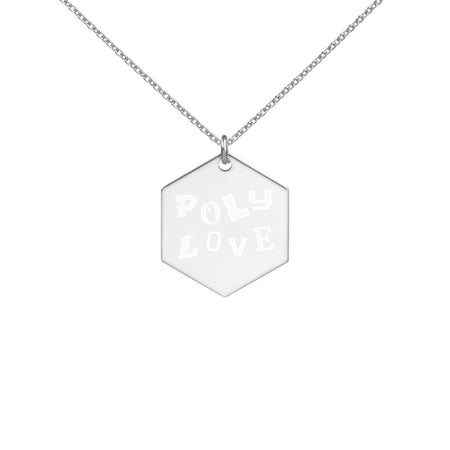 Poly Love Silver Necklace on The Good Shop Online Store